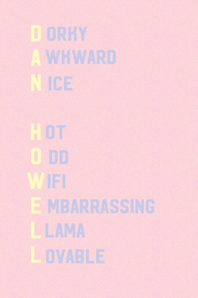 Words that describe Dan Howell
