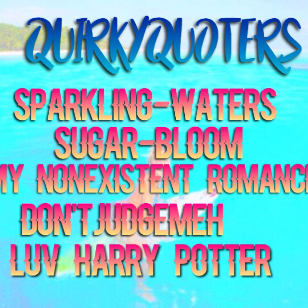 QuirkyQuoters are full