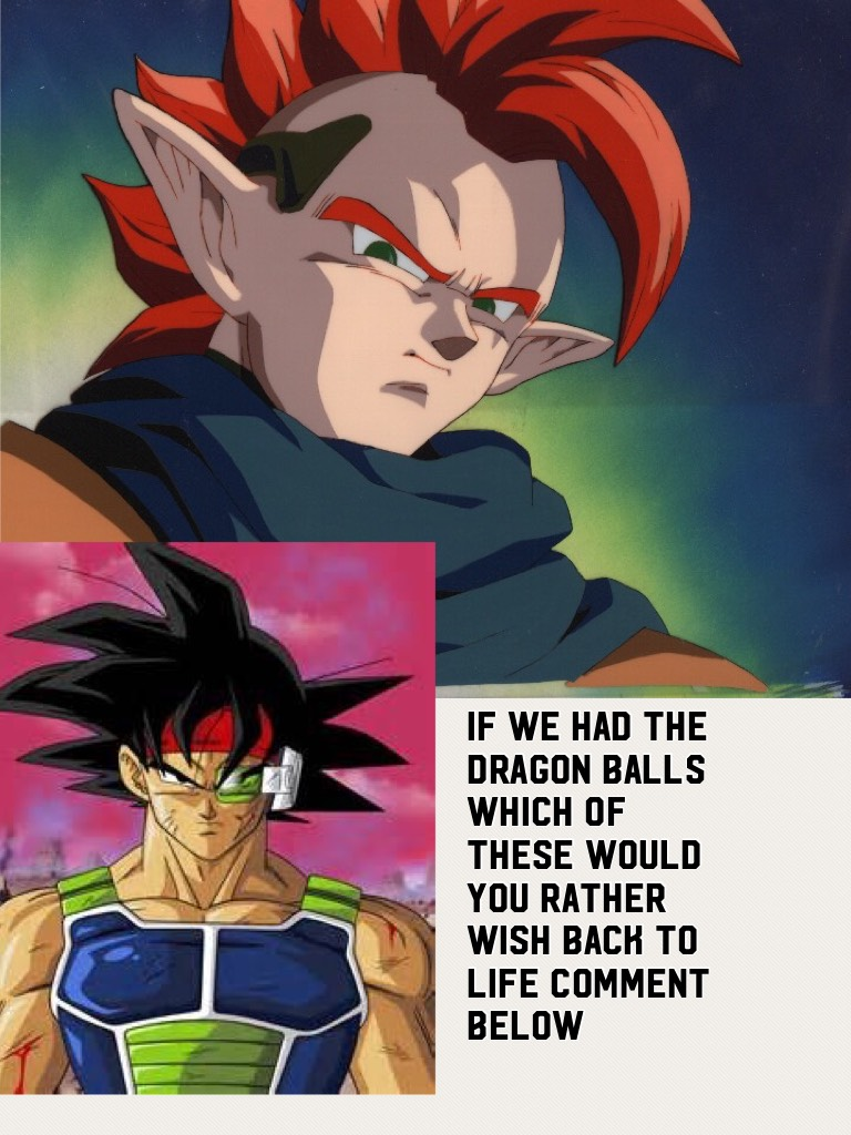 If we had the dragon balls which of these would you rather wish back to life comment below