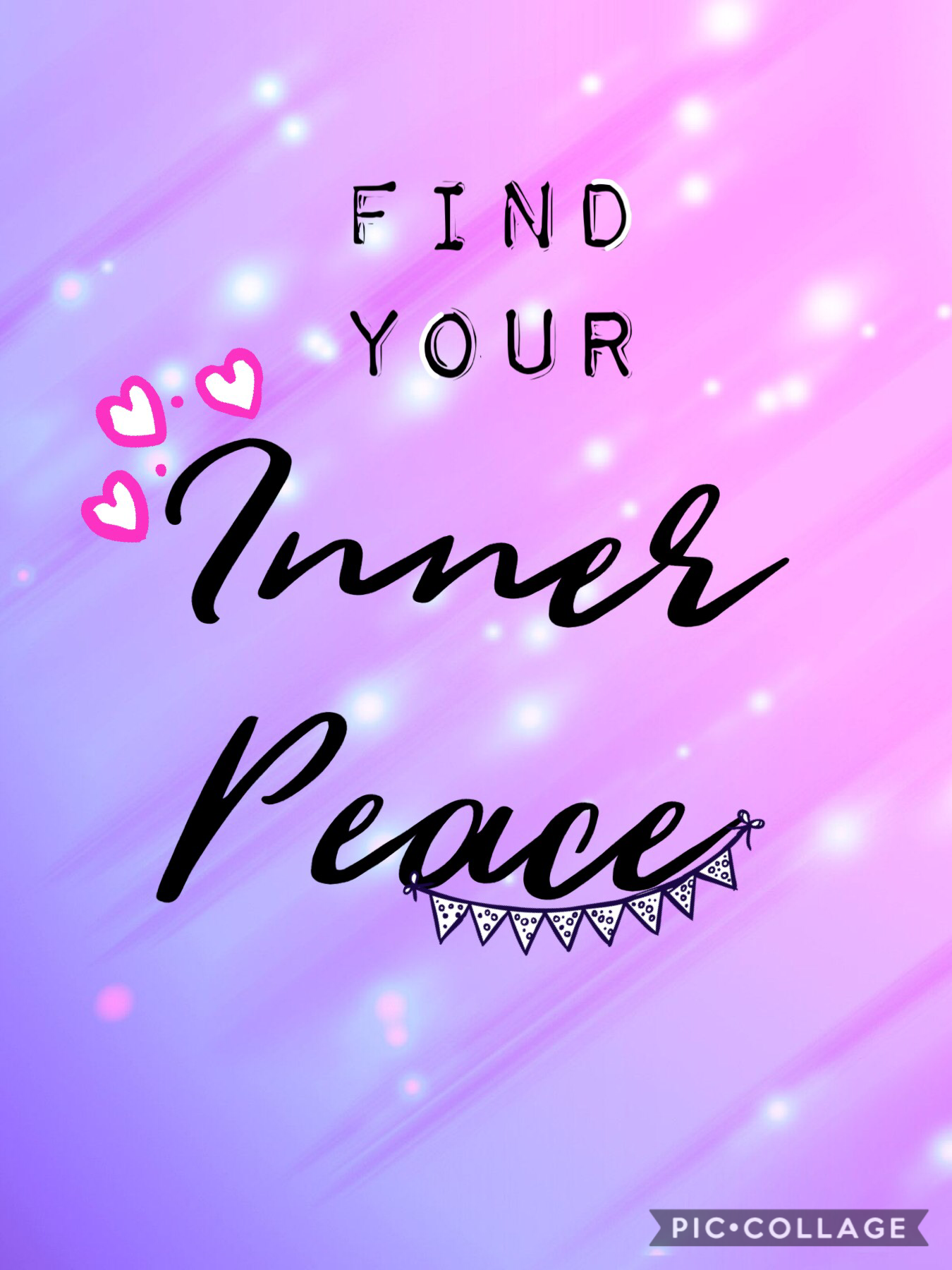 Tap 😘 Always remember to find your Inner Peace in those difficult times!
