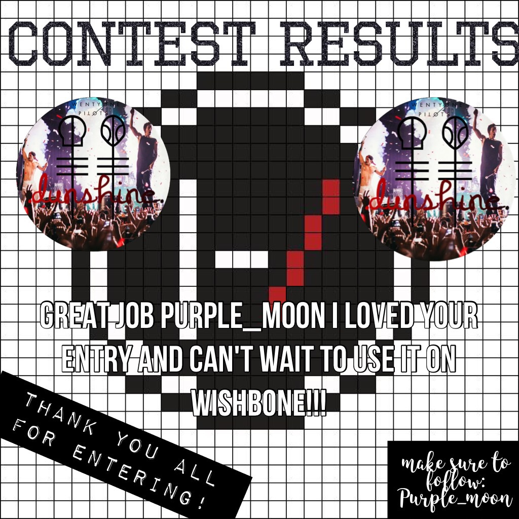 sorry it's late but congrats Purple_moon and thanks to everyone for entering!!! |-/