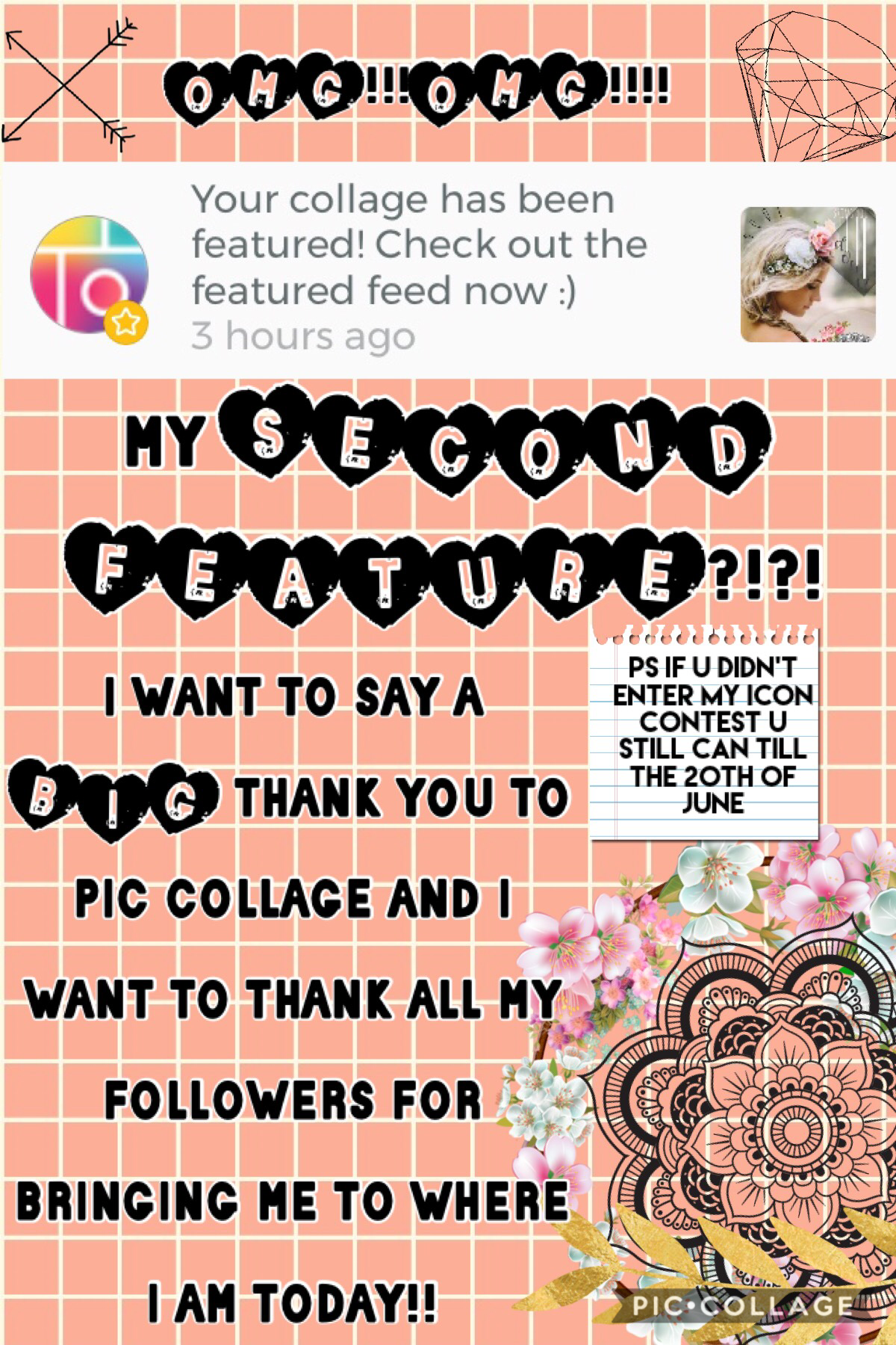 OMG OMG OMG OMG I hv no words!! Well yea I kinda do😂...I want to thank pc and my AMAZING-followers!! I think this is my 2nd feature in 3 or 4 days! I've been literally on a high and the last few days hv been cray cray with final exams...but I've made it t