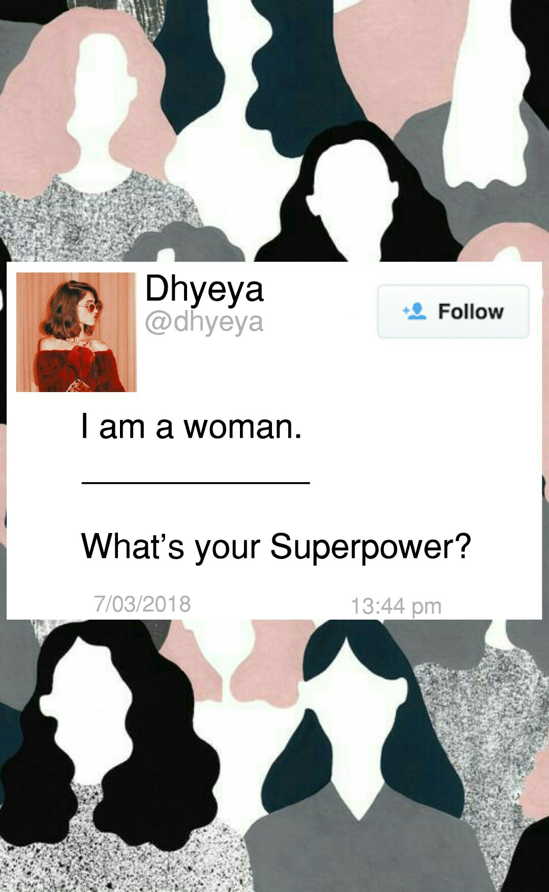 I love this one <3 Happy Women's Day in advance :)   Que: Should I do more collages like this?