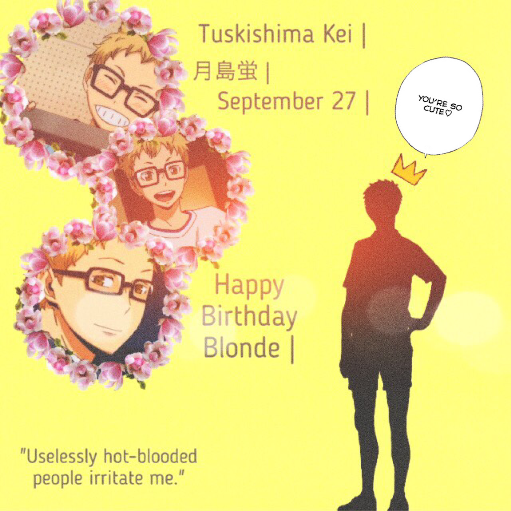 THIS IS LATEEEE! Hbd you little SHÏT ❤️ doing bokuto's now cause he Bae to