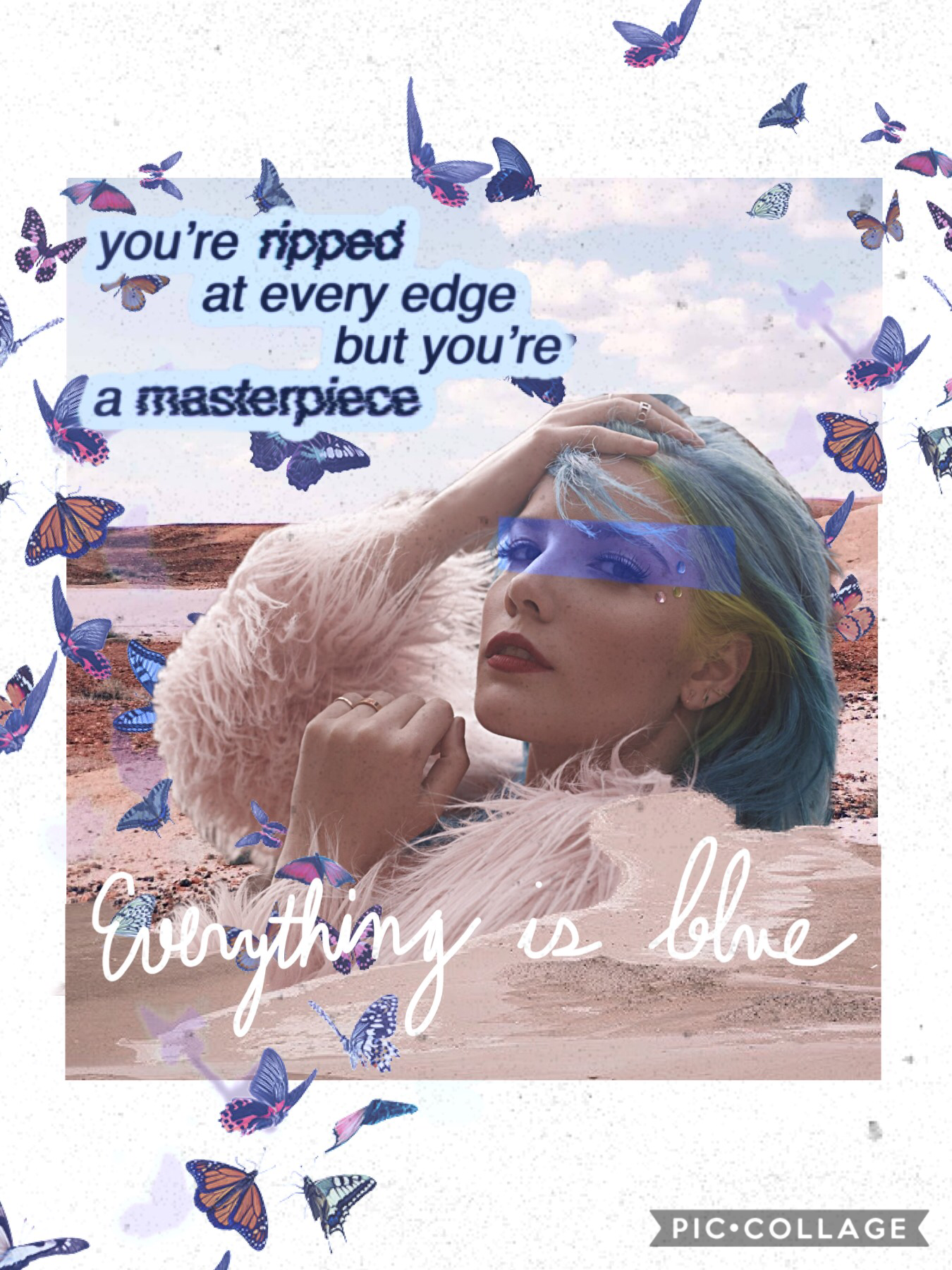 Idk but I did a Halsey collage🌊🦋🌬☁️