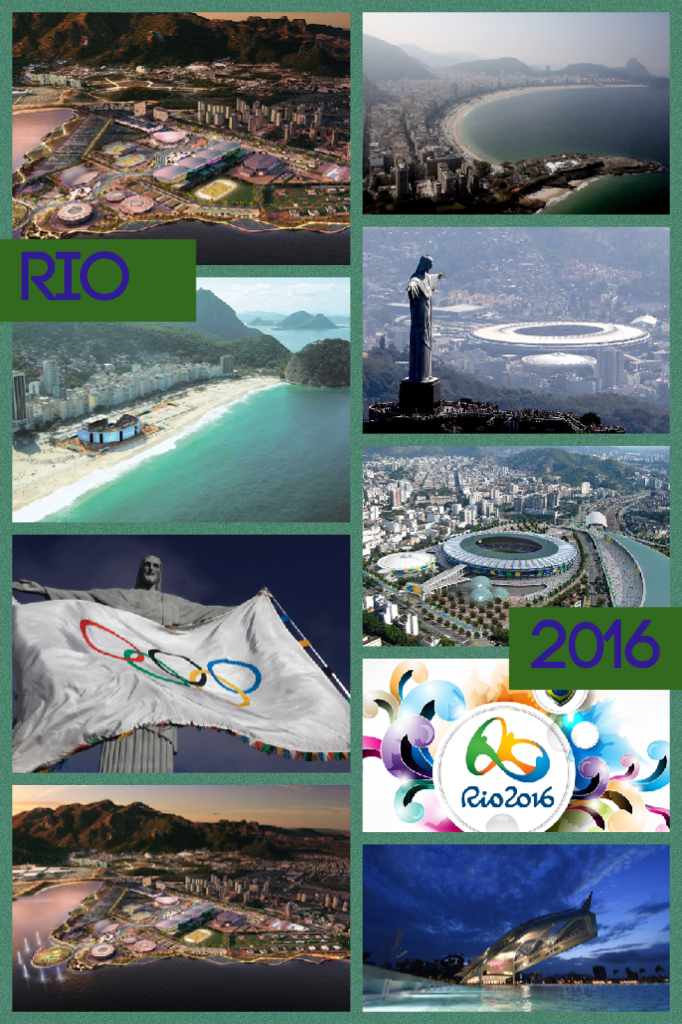 In spirit of the Rio Olympics, 2016, I created this collage of Rio and the Olympic Village! #Rio #Olympics2016 #FTW #Sports #DreamBig ⚽️ 🏐 🏀 🎾 🏌 🏓 🏹 🏊 🚵🏻 🏋 🏆 🏅