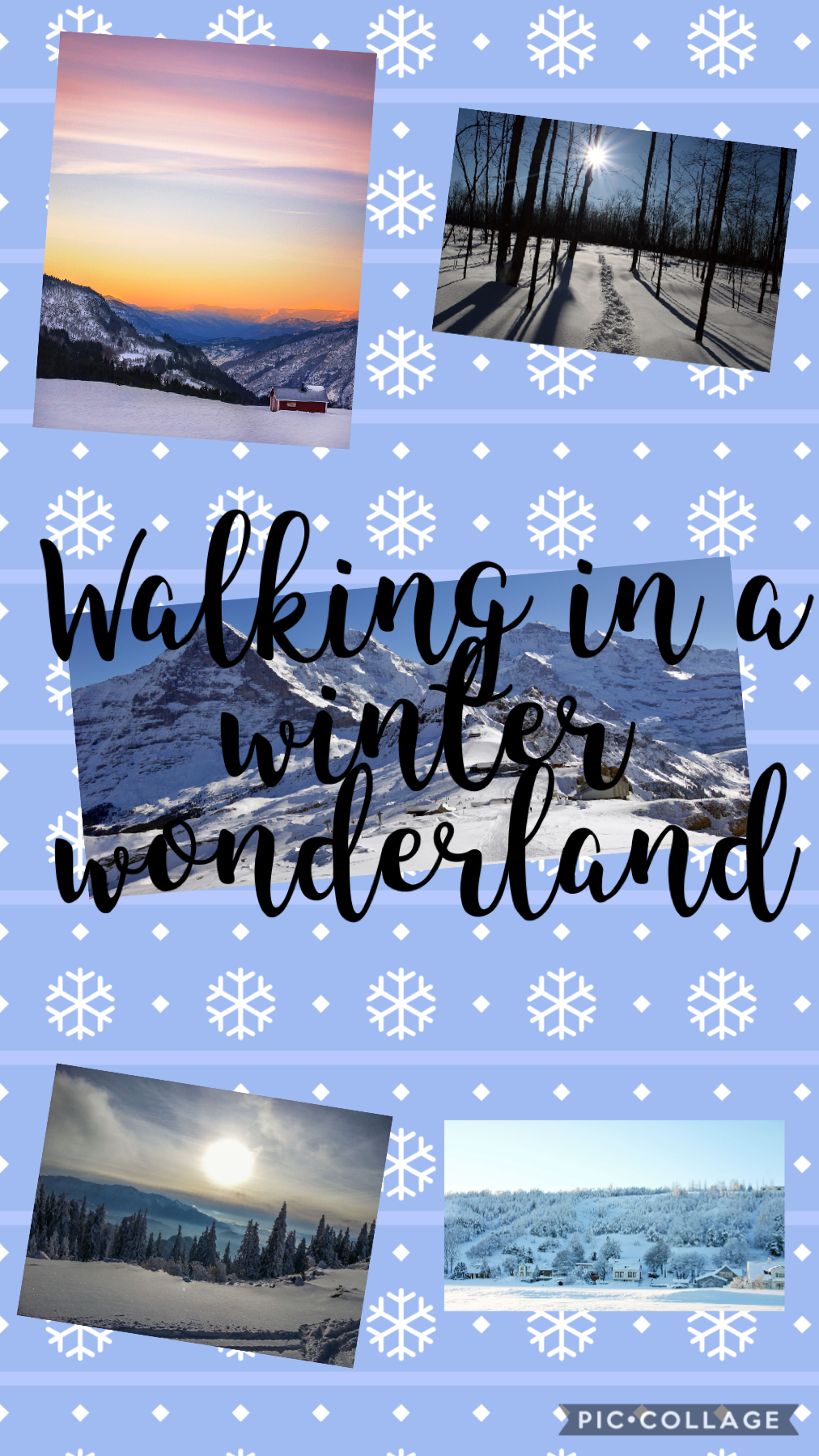 Walking in a winter wonderland!! What is your favorite part of winter ❄️ I love to walking around in the snow and decorate my Christmas trees!!