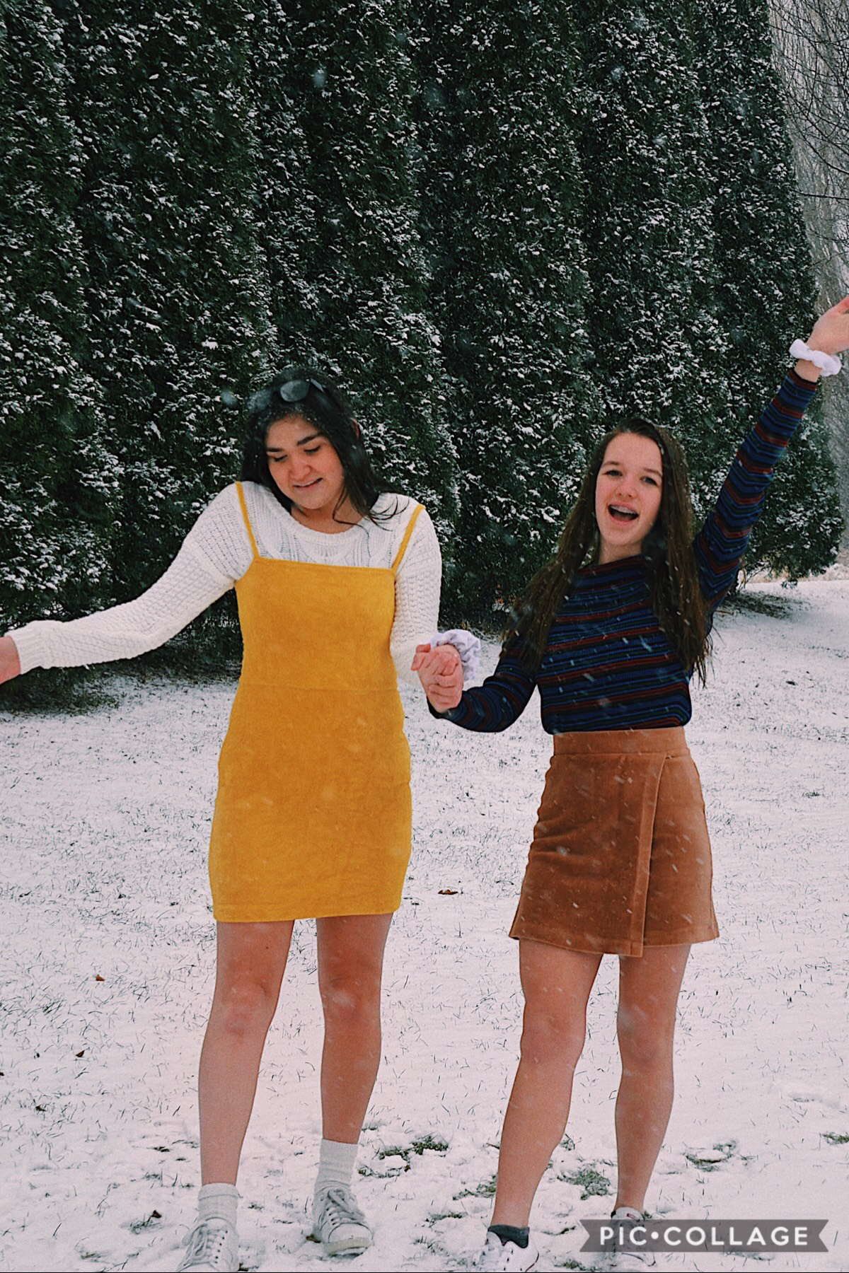 we literally carried out my big tripod all the way behind my backyard & literally froze to death trying to take it,...but with her: it was a fun adventure