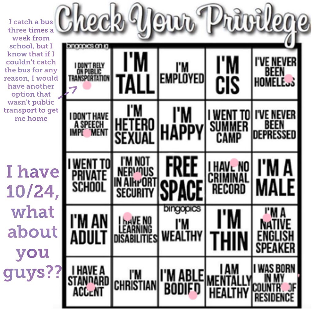 I have 10/24, what about you guys?? Also im aware that this makes me look unprivileged, but honestly I have such a  good life compared to other people. I have food, water and a house. That's better than some.