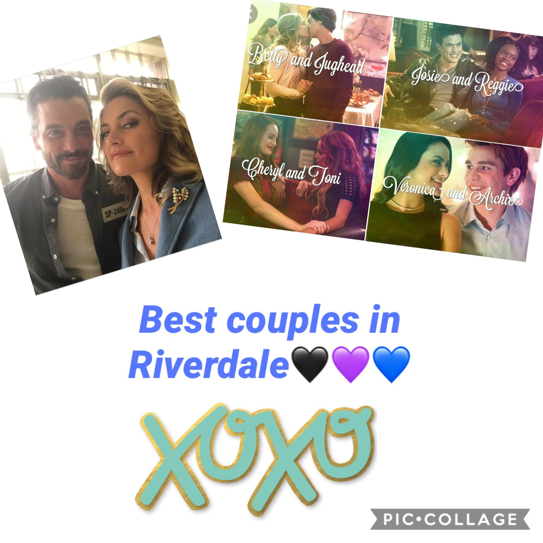 These are a couple of the couples in Riverdale they are so cute together!!!!🖤💜💙Follow me and like of agree!!!🖤💜💙