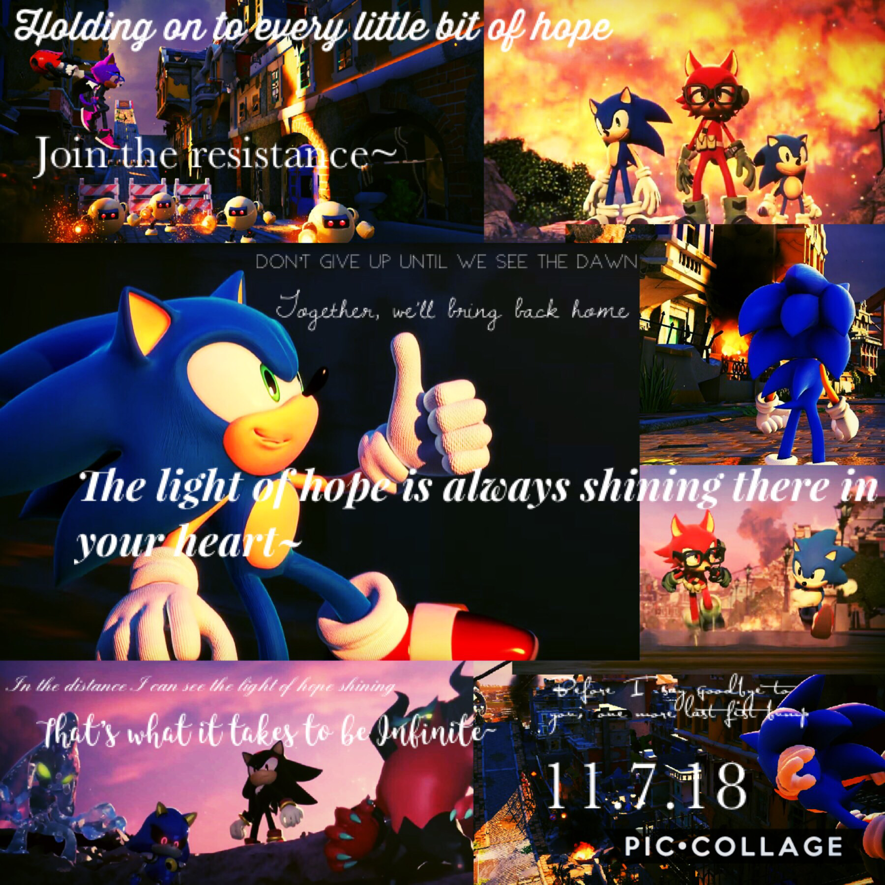 Happy birthday, Sonic Forces! This post is just to celebrate the one year anniversary of the game. If you want to see me blether about the game and what it means to me, check the comments😂