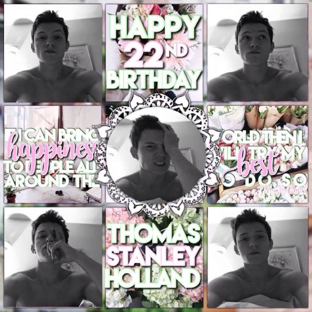I really hate this edit buuuuut it's my bby Tom Holland's birthday!! 💕 pride edit coming soon for pride month 💛