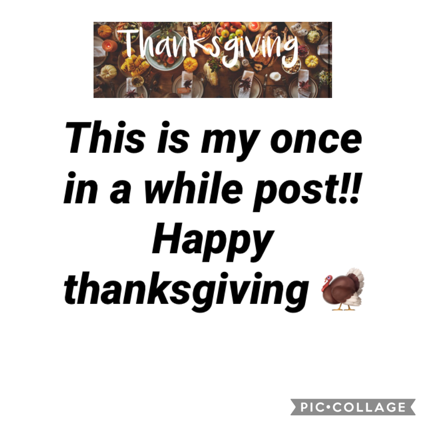 Happy thanksgiving!! This is my once in a while post. Goodbye!