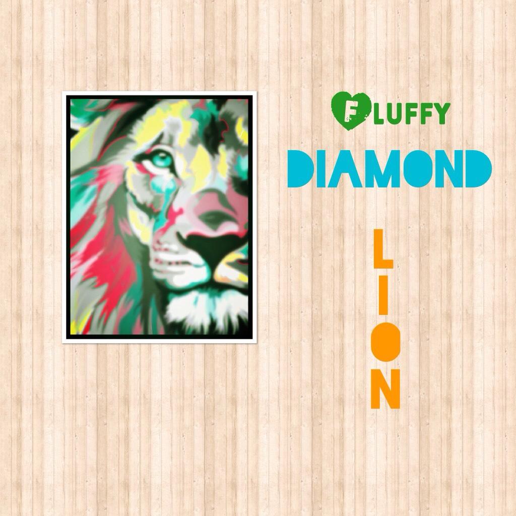 Fluffy diamond lion