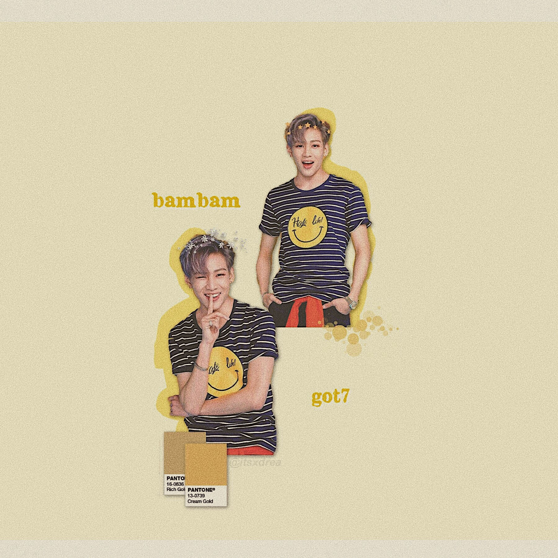 🌼 • bambam // got7 • > edit request for @POS1T1VE_V1BES < hope you like it !! i'm RLLY sry there isn't a lot of red, i just thought these photos looked rlly good with the edit :// >> i don't rlly stan got7 but I LOVE watching interviews w/ them bc they're