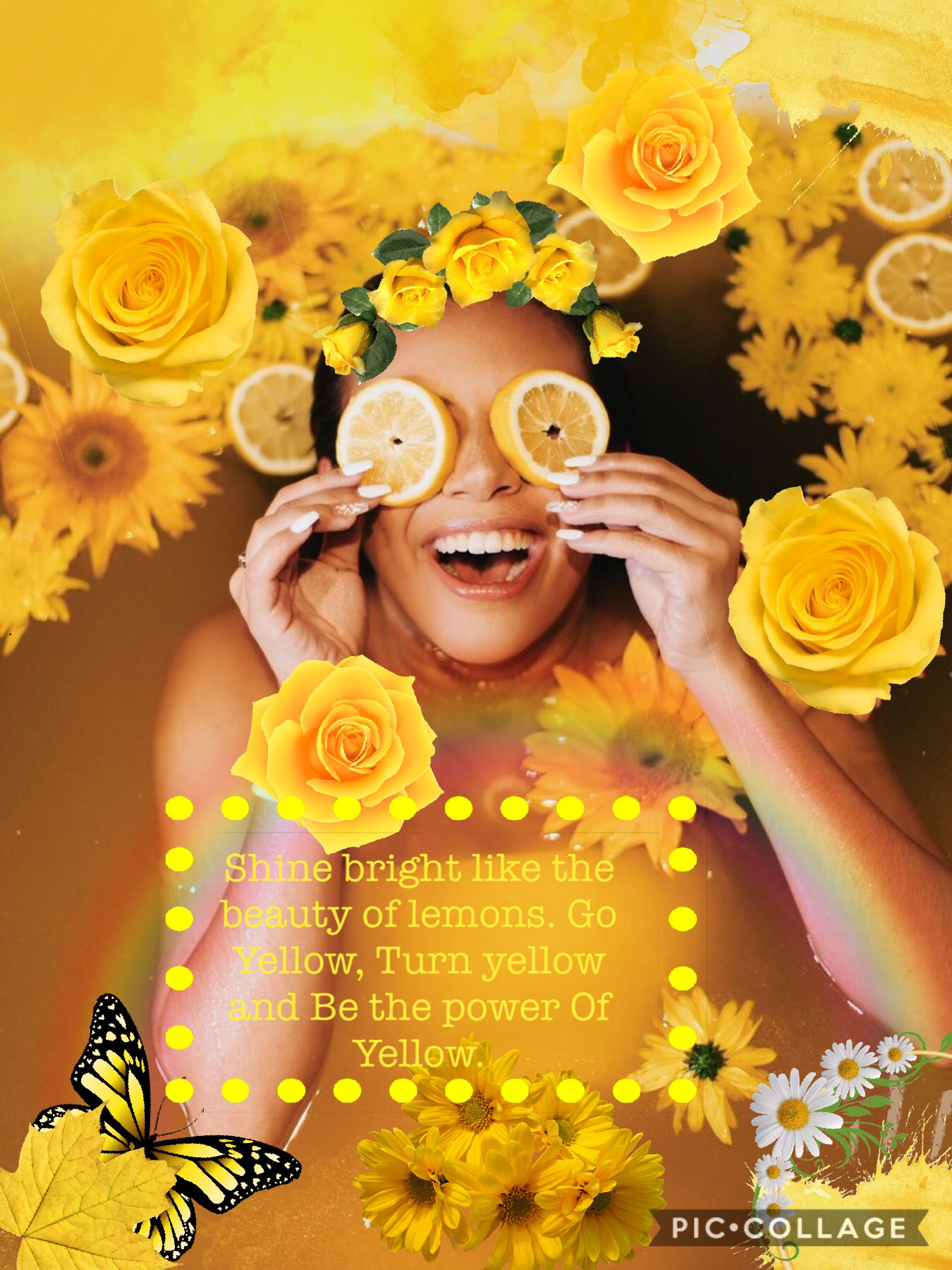 Decided to post this one of Adelaine Morin that I just created. Go subscribe to her YouTube which is Adelaine Morin she is the best. I am really into yellow lately so I decided to do this. Comment some celebs you want me to do collages on.
