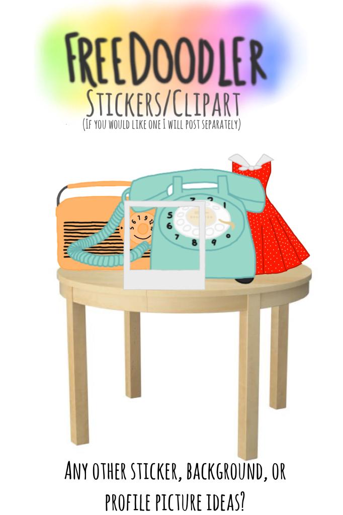 Retro Stickers/Clip Art (Work-in-progress)