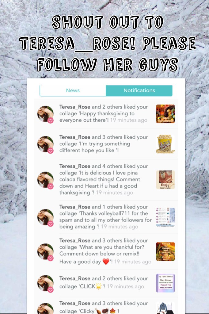 Please follow her and thanks for being a great follower ❤️⭐️