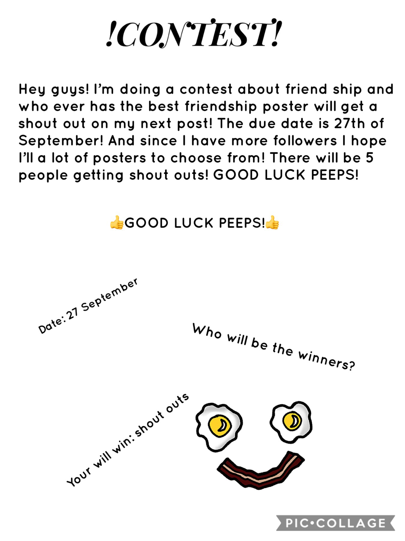 Follow me! And good luck for those who are participating!