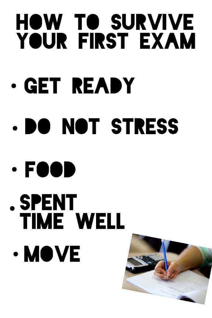 First exam?🧐