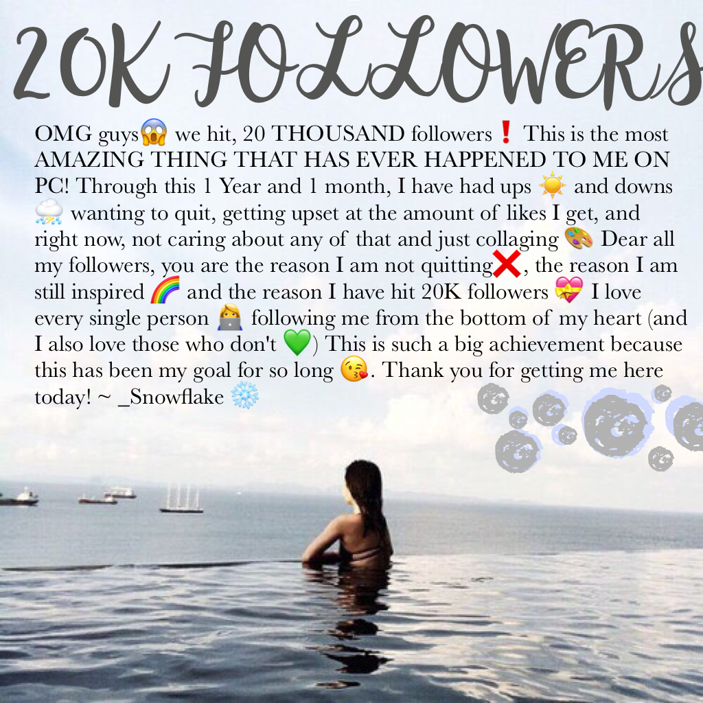 20K?! I CANT BELIEVE IT😱💝