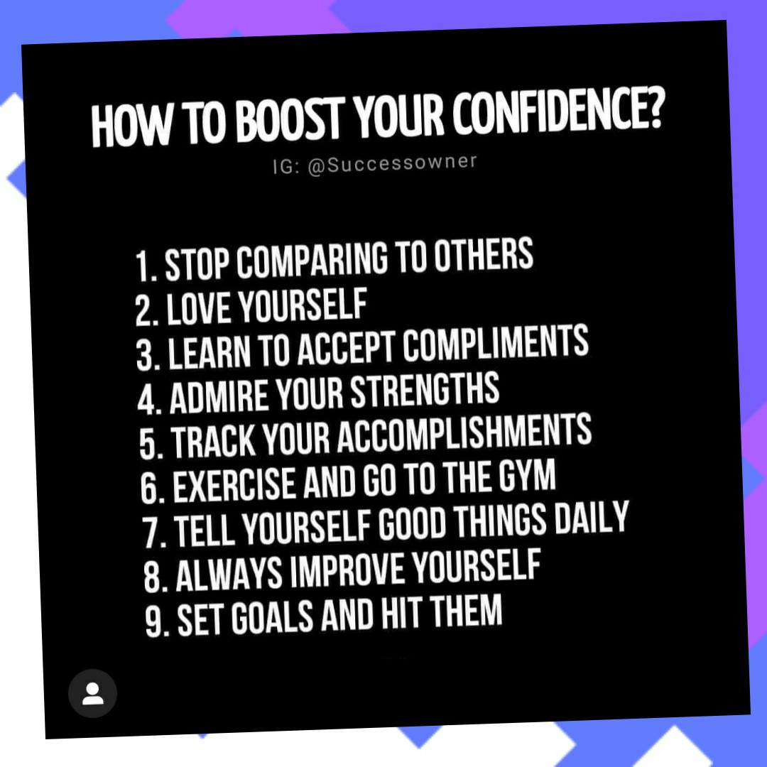 Hey everyone!! I found this pic and I wanted to share w/ you guys because 2020 is a good year to boost our confidence and grow some self love...so check it out and give it a ❤!!
