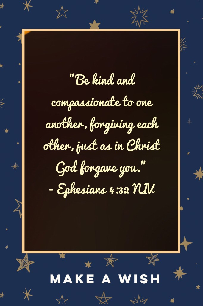 Just as Christ God forgave you.