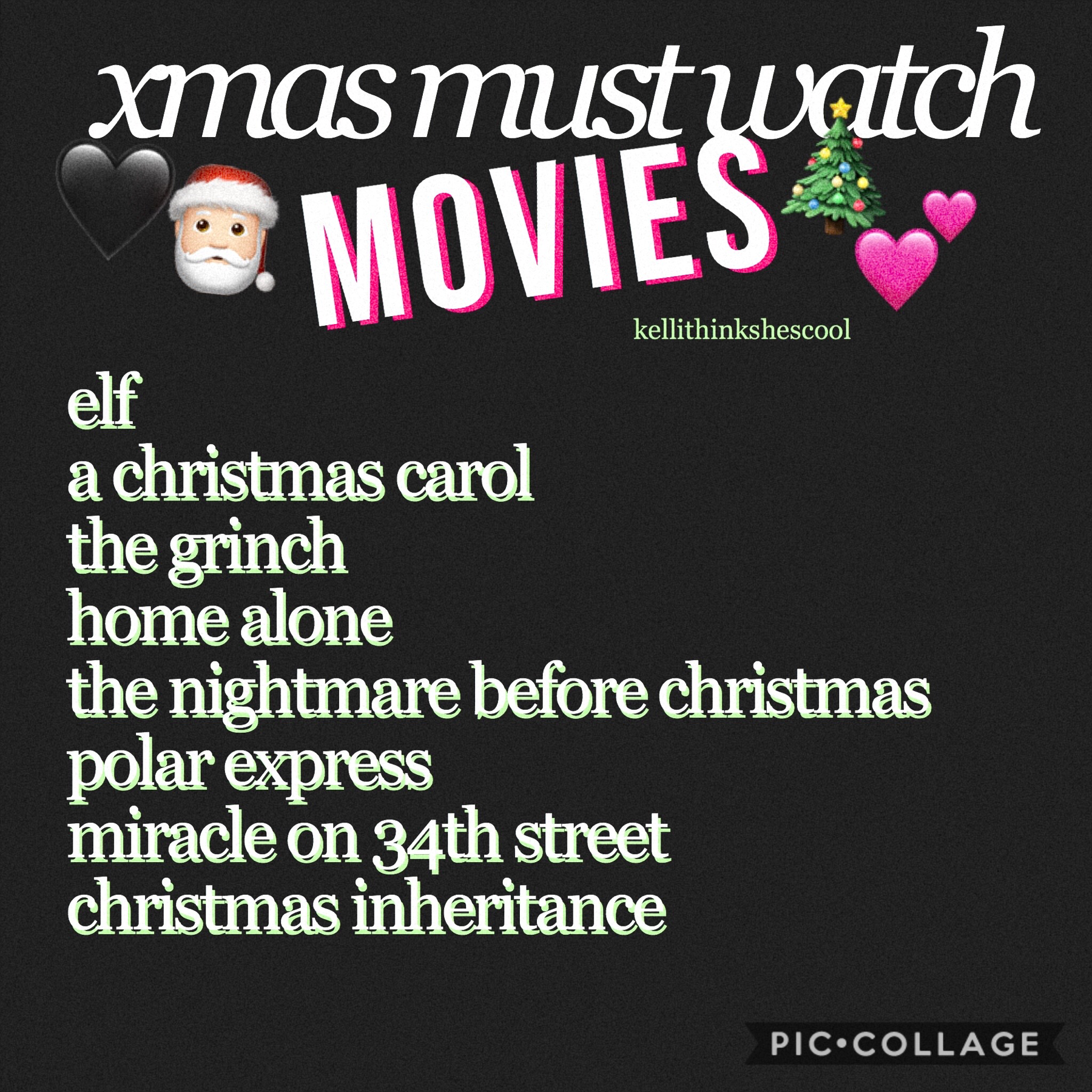I have some more but these are the must watch. asha, please make sure you've watched these so that I can forgive you for never watching Mean girls. bye ! 💗🎄🥰🖤