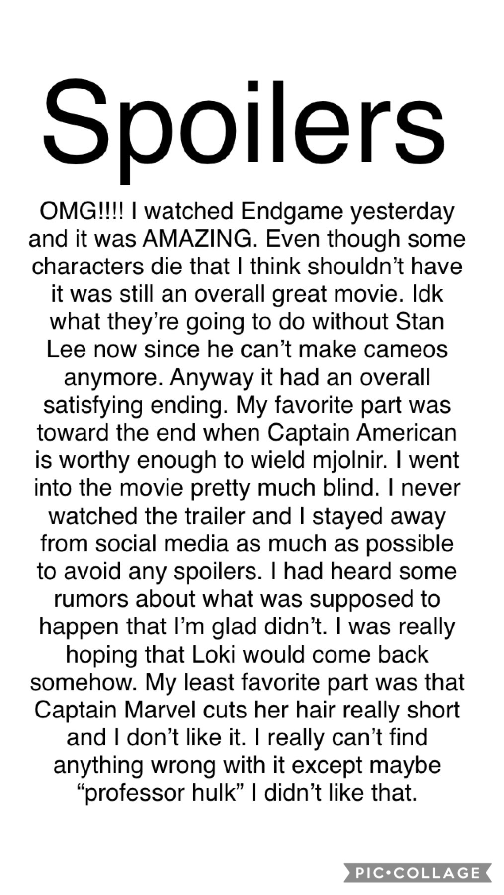 💚Spoilers for the new Avengers Endgame. 💚 QOTD: What was your favorite part (if you've seen it) AOTD: Spider-Man coming back.