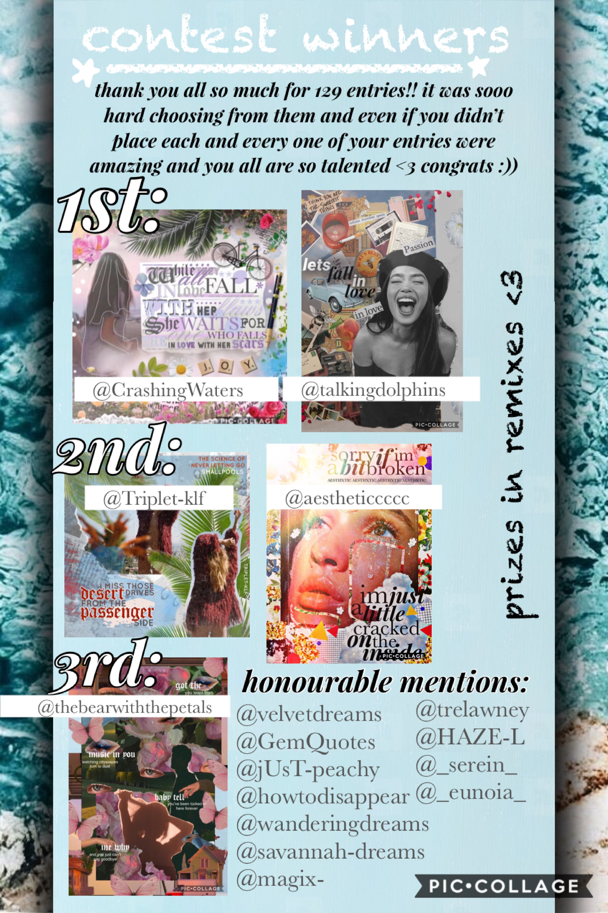 contest results🦋💗pls don't feel disheartened if you didn't place, all your entries were amazing and it was so hard to choose <3 💝🥰layout credit:@dancingflowers