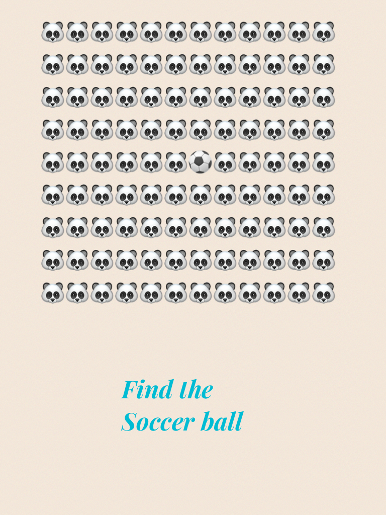 Find the Soccer ball