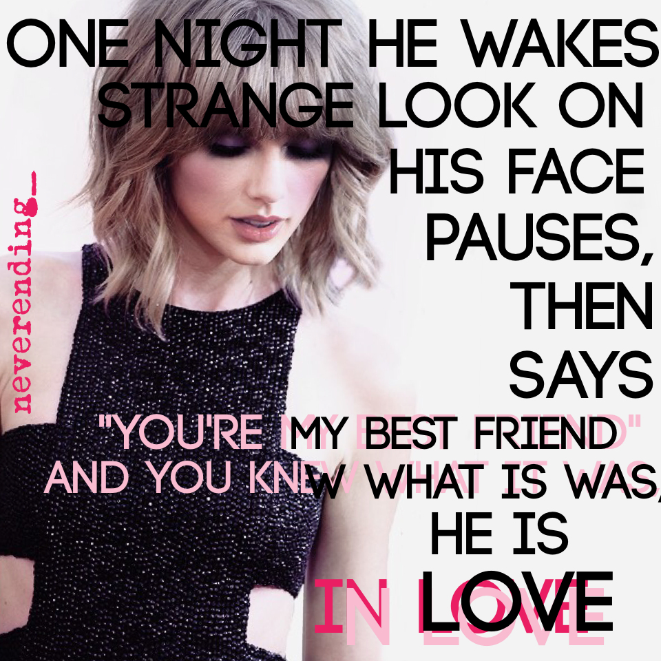 #taylorswift you r in love ❤️❤️
