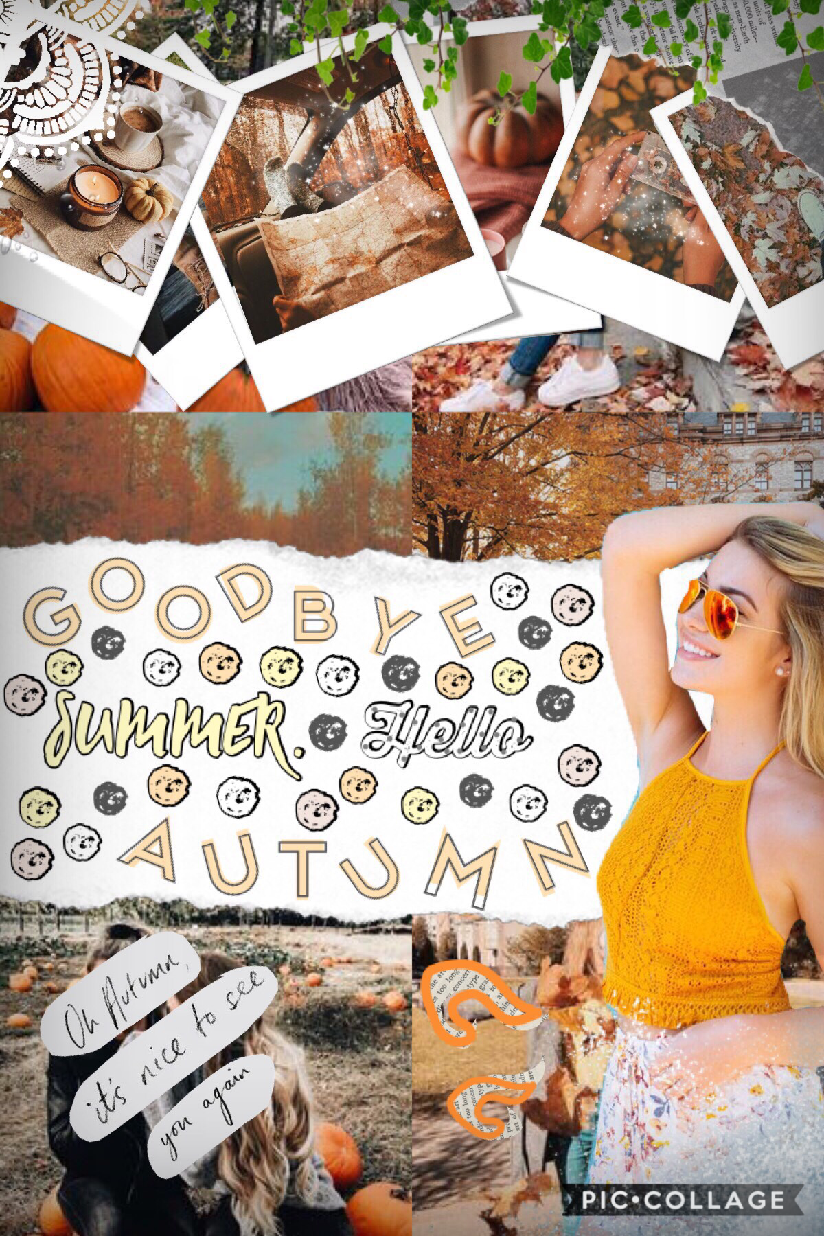Hey! First Autumn themed collage 🍂 How's life 🌿🌸 I HAVE SO MUCH HOMEWORK 😭