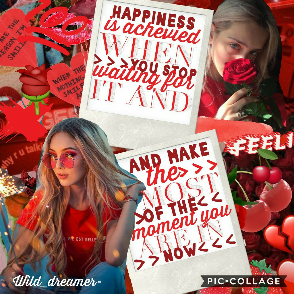 🌹🍒❤tap!❤🍒🌹 hey ppl!! how is everyone going? Heres a red collage for y'all! plz rate in remixes from one to ten and tell me what I could improve on.  QOTD: what's ur fave color??  please answer in remixes tysm!❤