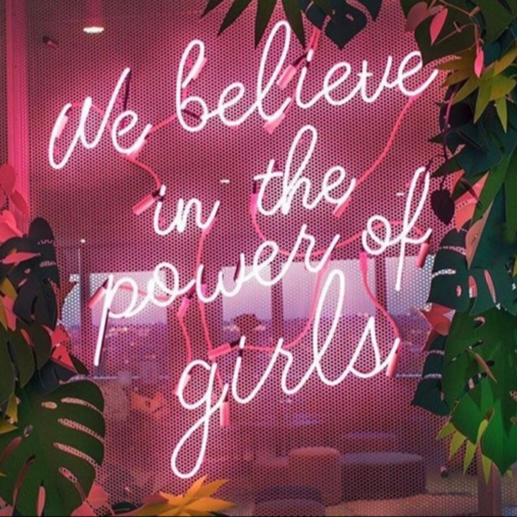 ... and boys  >clicky< haha so kinda moral dilemma here, obv we believe in 'the power of guys' too but they don't need to be reminded as often bc they aren't constantly told they can't do things obv this is subjective to circumstances anyways 😂  xx