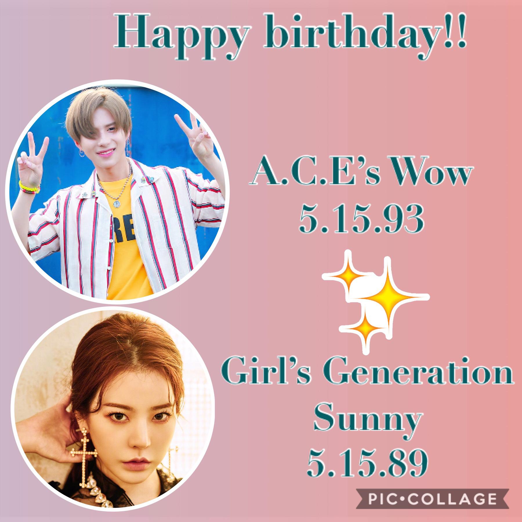 •🌷🎈• Happy birthday!💞 Other birthdays: •CNBLUE's JongHyun  •IU~May 16 •DreamCatcher's Jiu~ May 17 •EVERGLOW's Onda~ May 18 •BigBang's Taeyang~May 18 •EVERGLOW's E:U~ May 19 •Nu'est's Aron~ May 21 🌹🌷🌹🌷🌹🌷🌹