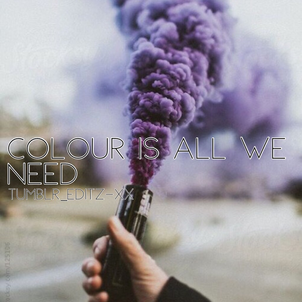 Colour is all we need