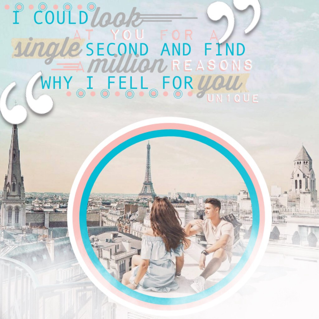 This was deleted😡 UGHHHH!!!! WHY PC? WHYYYYY???😫 whatever, Please Rate 1-10! Hope you guys like it... Tags: pink, blue, white, boy, girl, circles, Paris, Eiffel tower, UN1QUE, pconly, piccollageonly