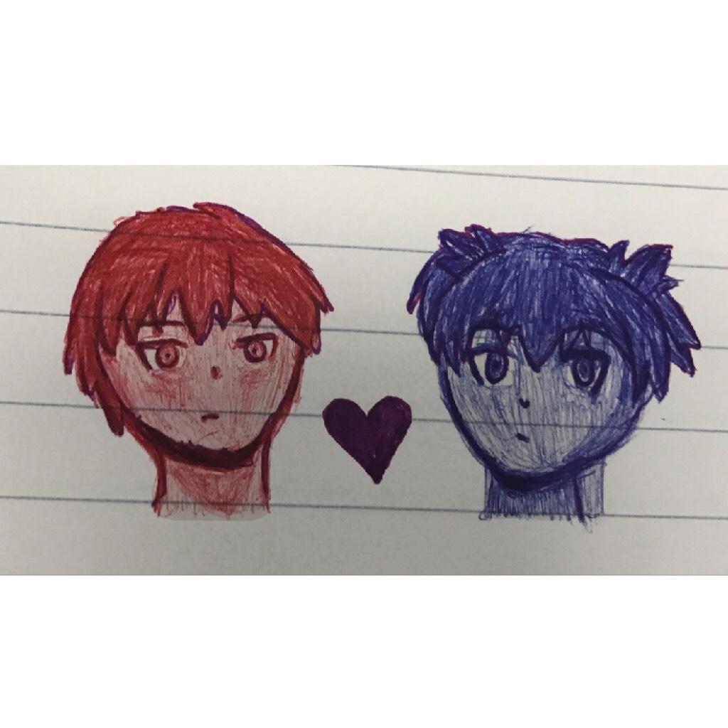 Karmagisa// Class doodle ❤️💜💙