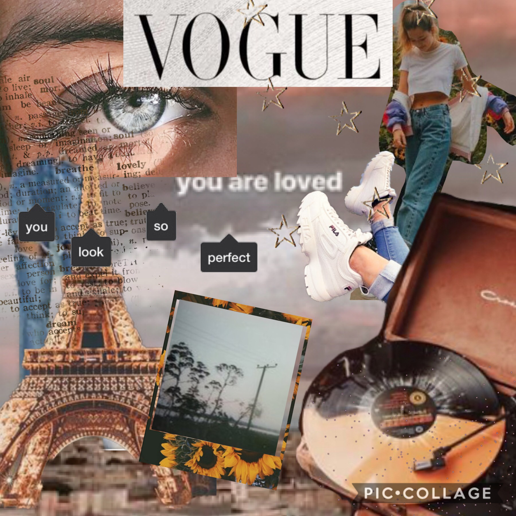 Tippy Tip!   My first aesthetic collage!   Also I will be starting a competition soon so be prepared!