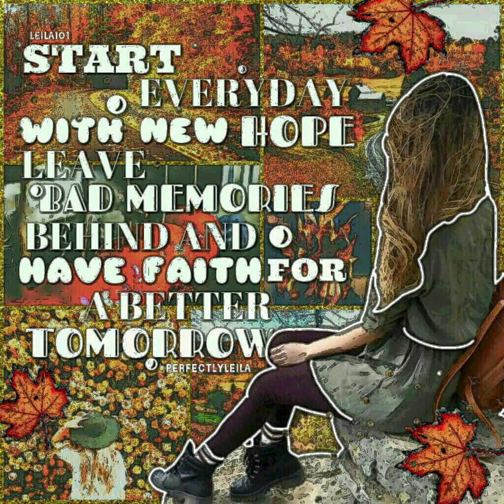 I LOVE THIS! LOL How are all my fabulous girls doing?! *click*  Guess who just joined Instagram yesterday! Yep, me! 😂 Tell me your username and I'll follow you! @perfectlyleila  Tags: piccollage collage autumn love pc girl fall photography leaves colors s