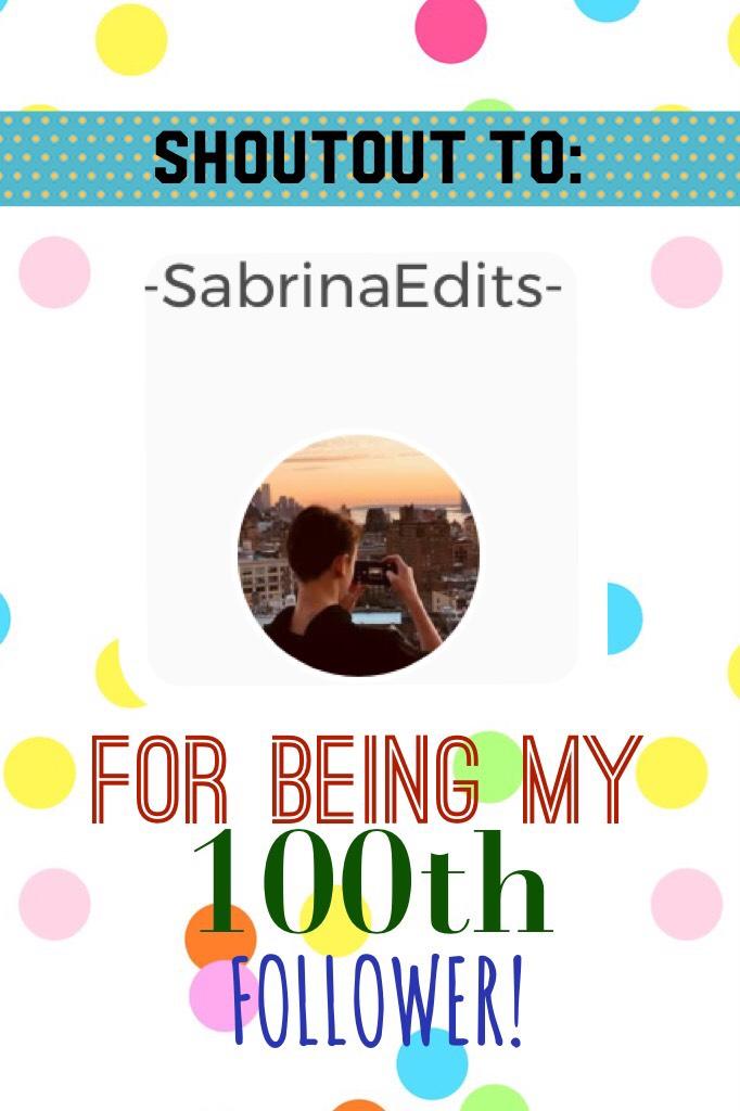Thank you -SabrinaEdits- !!!!