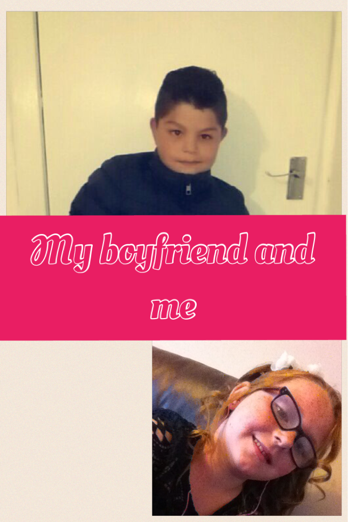 My boyfriend and me cuties
