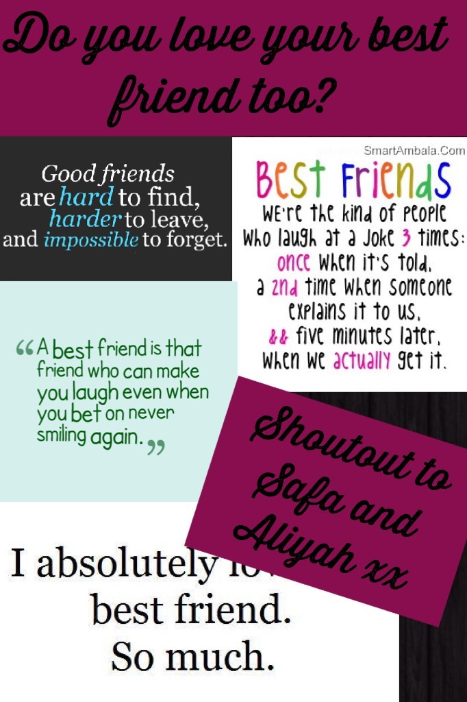 Like if you have a best friend, comment or remix if you wanna say more, don't forget to follow!