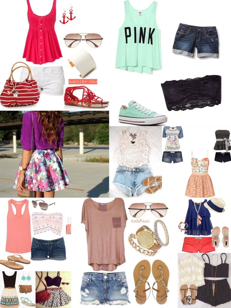 Get readdy for summer with these cute outfits!!!👗👠👙🕶