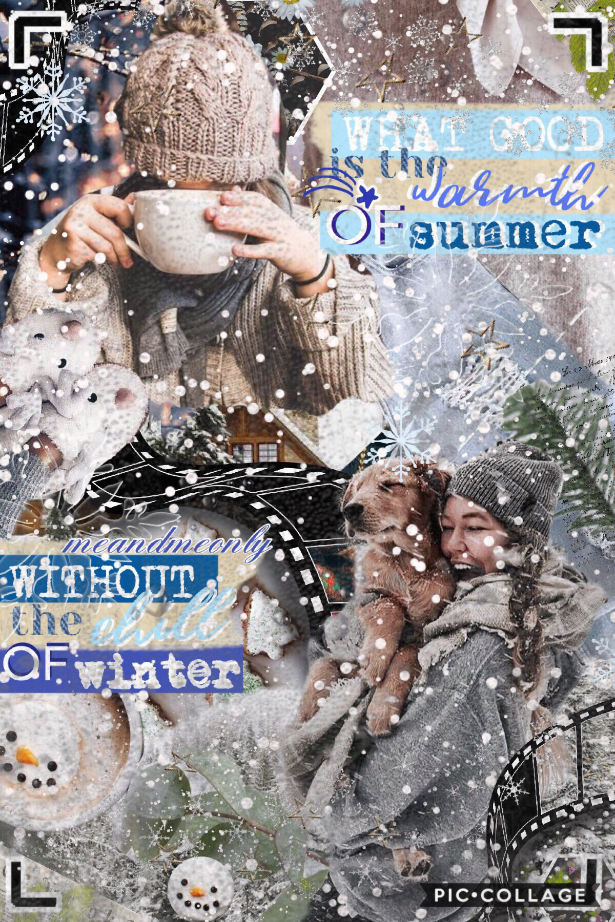 hehe this is a winter themed collage!! hope you like it. yay @piccollage replied to my feedback referring to the new update and they said that they are working on bringing the tools back!! 💓💞yay thank youuu ❤️ QOTD: how do you wear your hair at school? AO