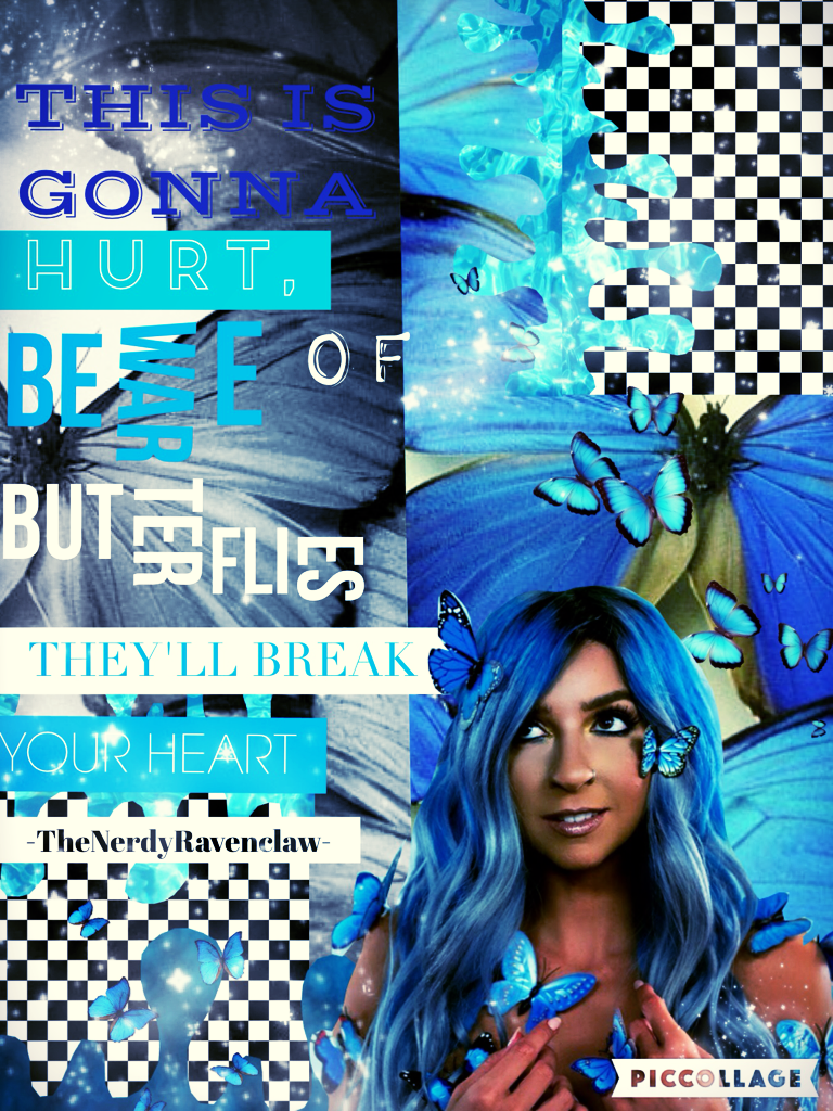 "Hellooooo people of PC. How are you doing? I'm very sick so at fun. I worked really hard on this collage and it is one of my favourites. I also really like this song. If you haven't heard it yet it's called ""Butterflies"" by: Gabbie Hanna. 💙"