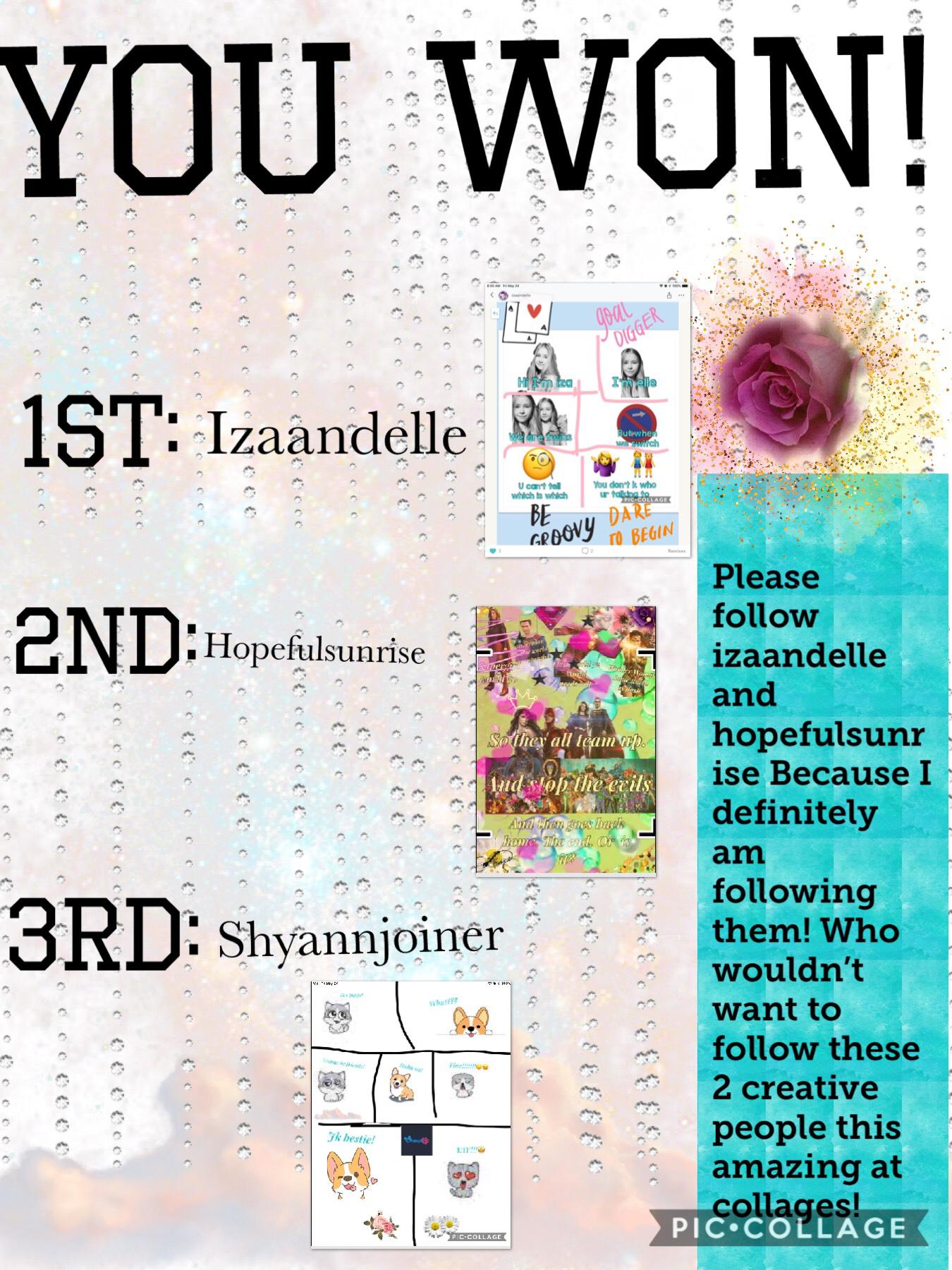Winners of comic contest! Congrats!
