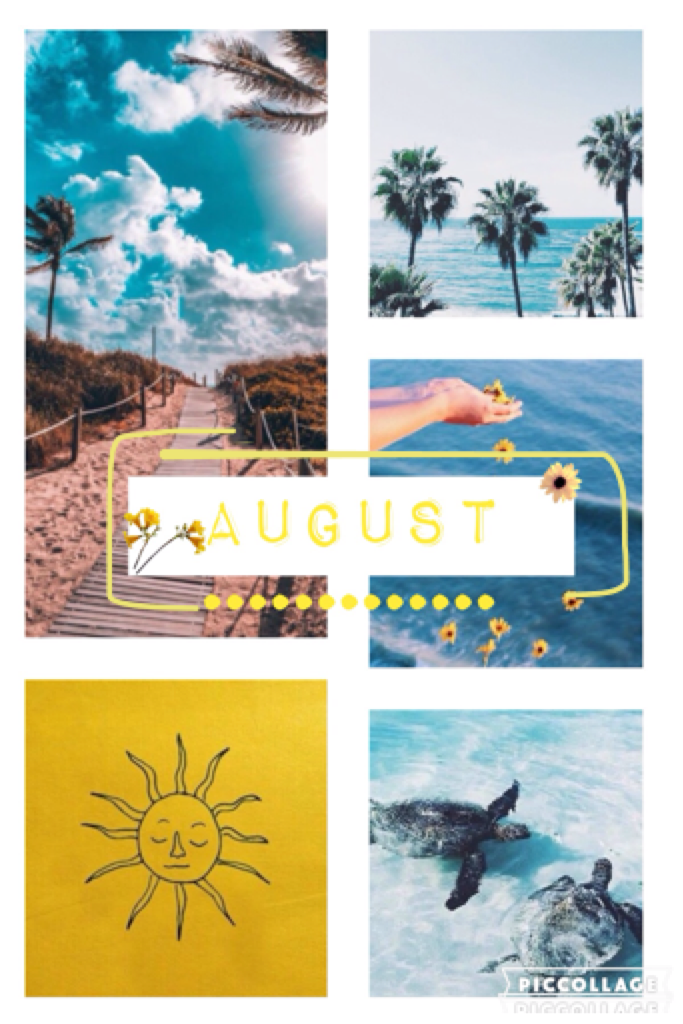 Tap! Yay it's August!! I'm so excited cause my birthdays tomorrow - 03/08 🎉🎉 Anyway hope you like this collage💛