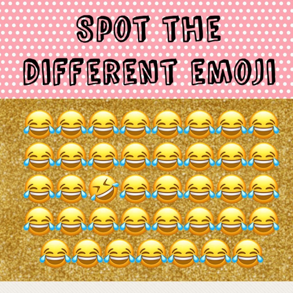 Spot the different emoji